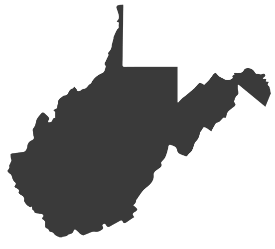 Map of West Virginia