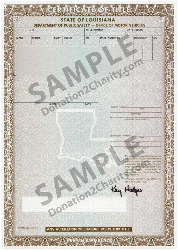 Louisiana Form Page 1