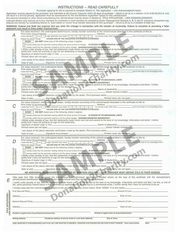 Montana Form Page 2