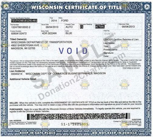 Wisconsin Form Page 1